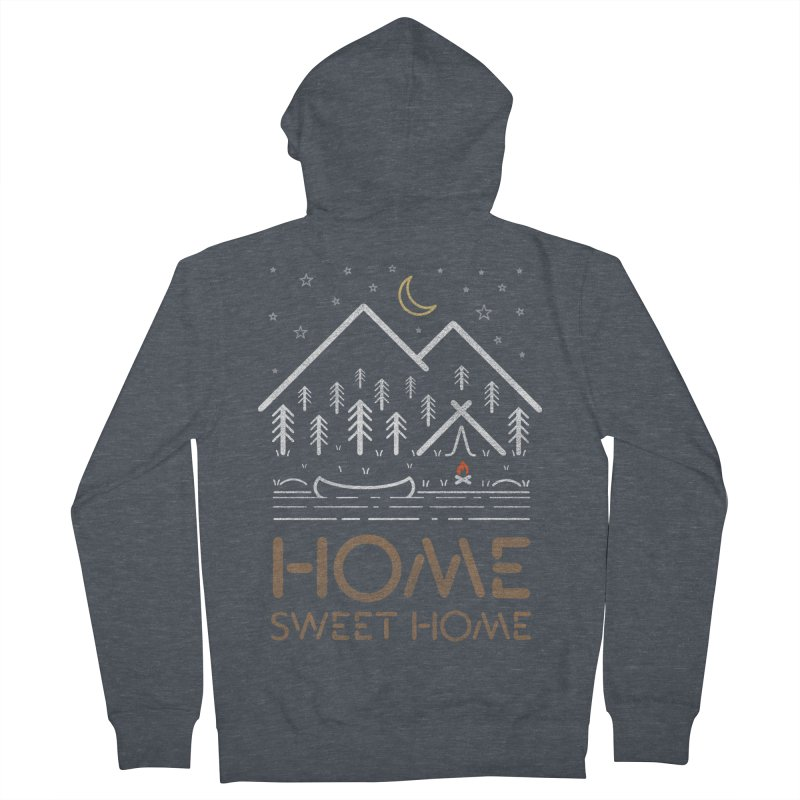 my sweet home Men's French Terry Zip-Up Hoody by muag's Artist Shop