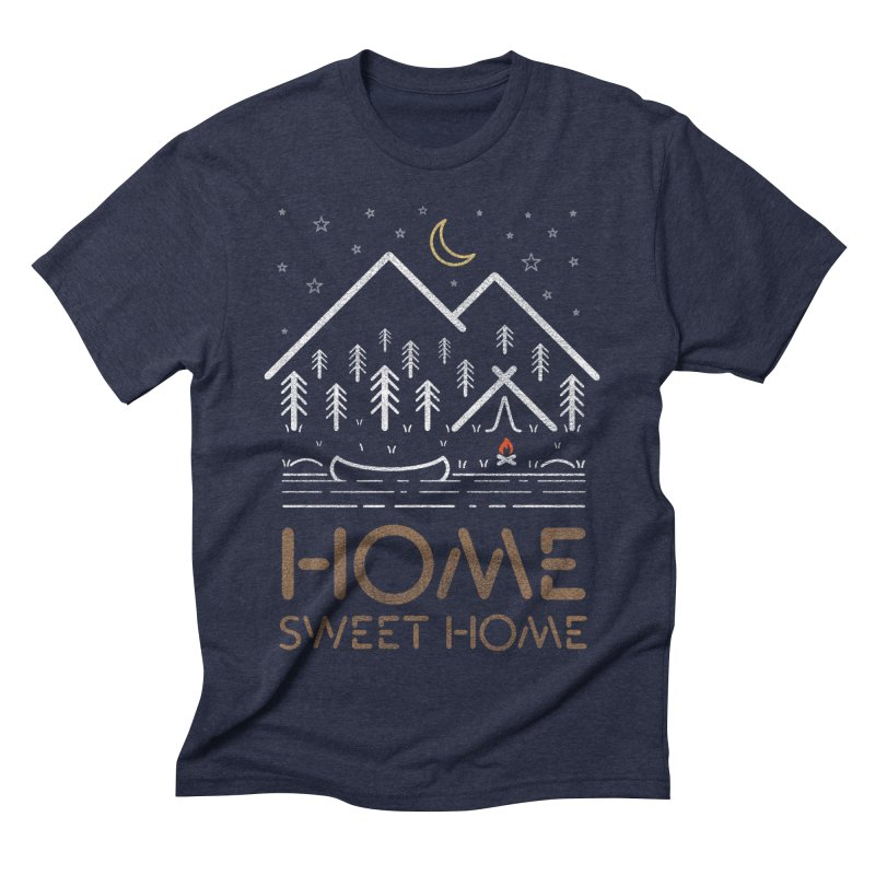 my sweet home Men's Triblend T-Shirt by muag's Artist Shop