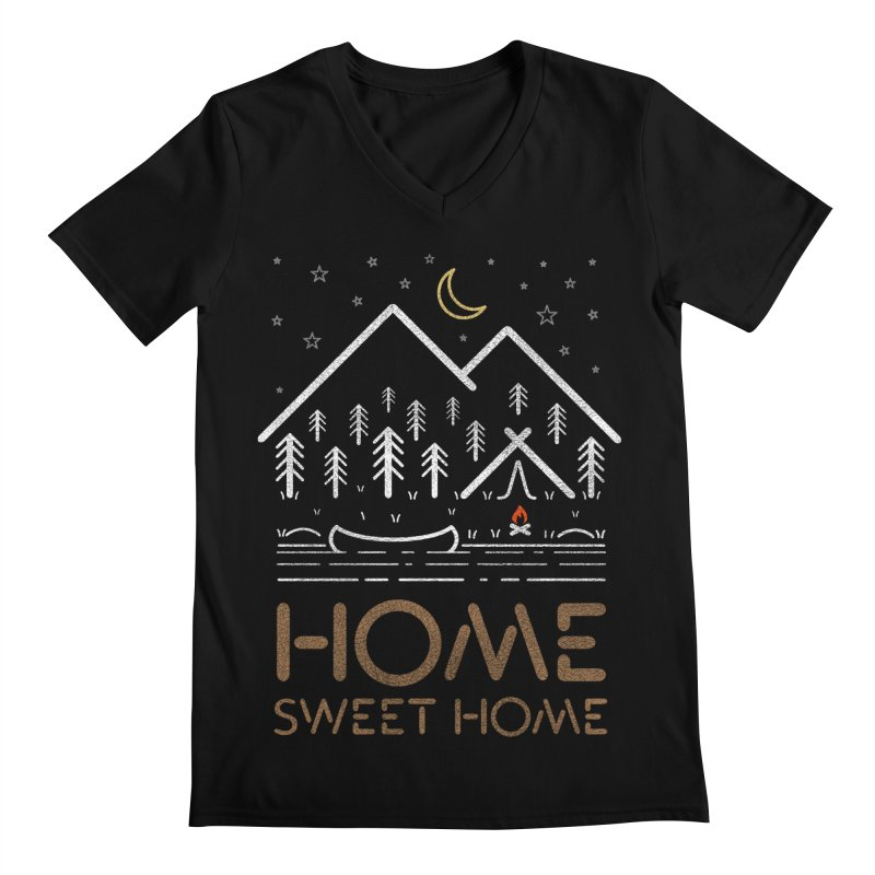 my sweet home Men's Regular V-Neck by muag's Artist Shop