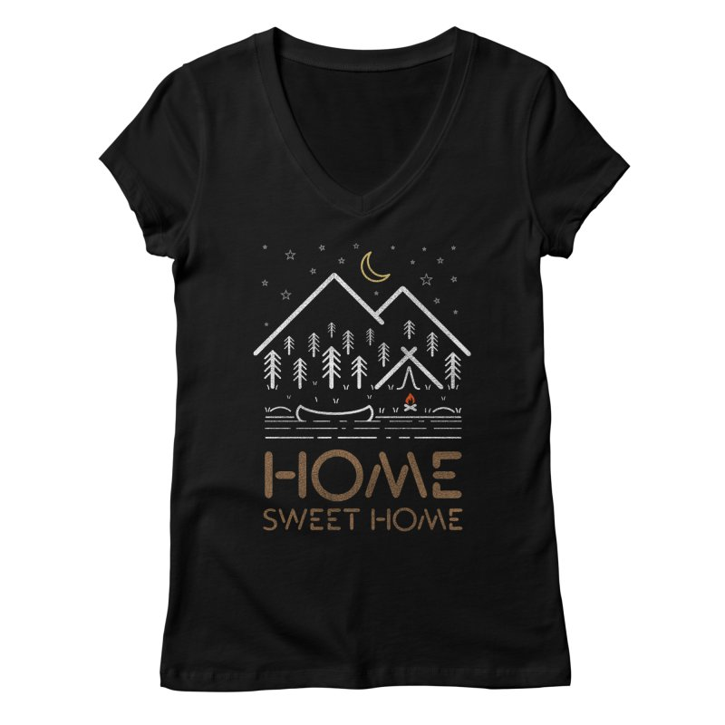 my sweet home Women's V-Neck by muag's Artist Shop