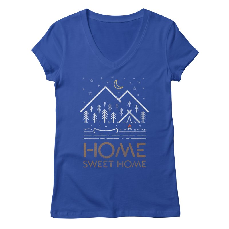 my sweet home Women's Regular V-Neck by muag's Artist Shop