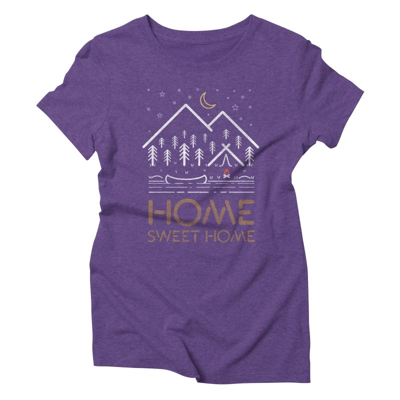 my sweet home Women's Triblend T-Shirt by muag's Artist Shop