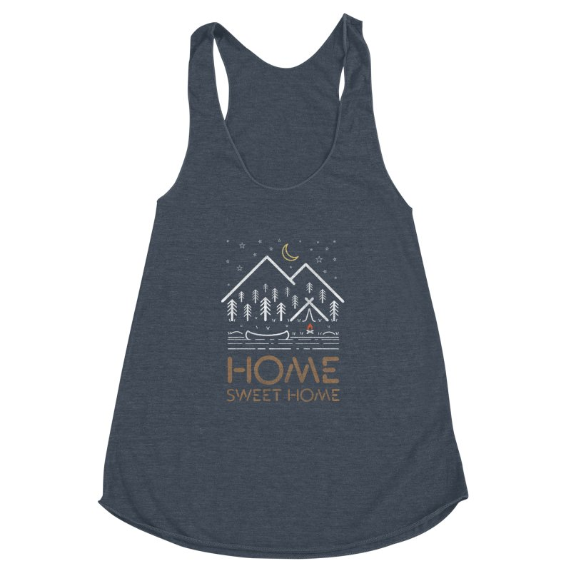 my sweet home Women's Racerback Triblend Tank by muag's Artist Shop