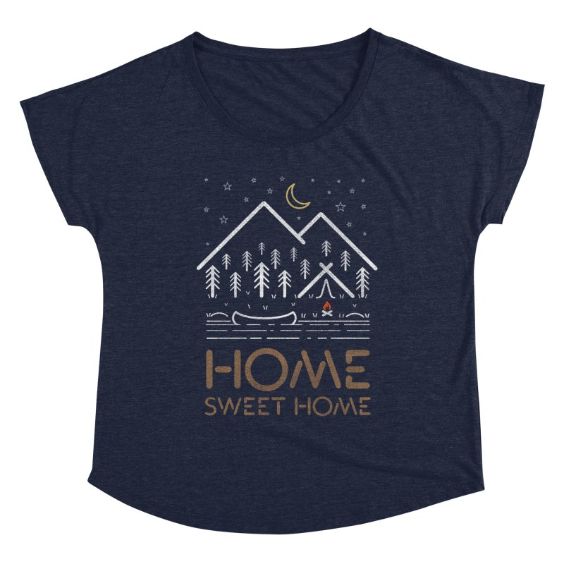 my sweet home Women's Scoop Neck by muag's Artist Shop
