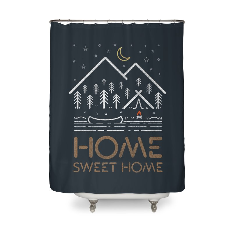my sweet home Home Shower Curtain by muag's Artist Shop