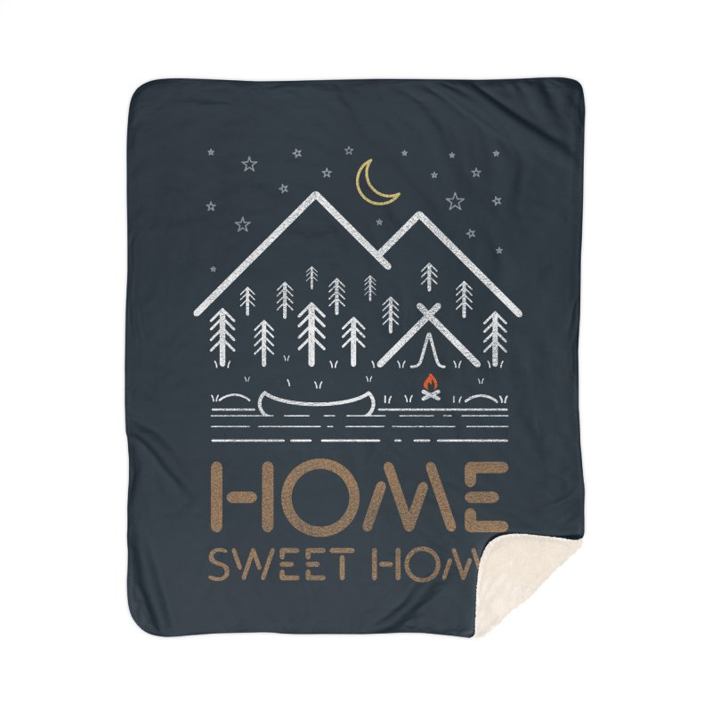 my sweet home Home Sherpa Blanket Blanket by muag's Artist Shop