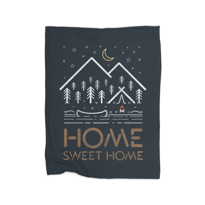 my sweet home Home Fleece Blanket Blanket by muag's Artist Shop
