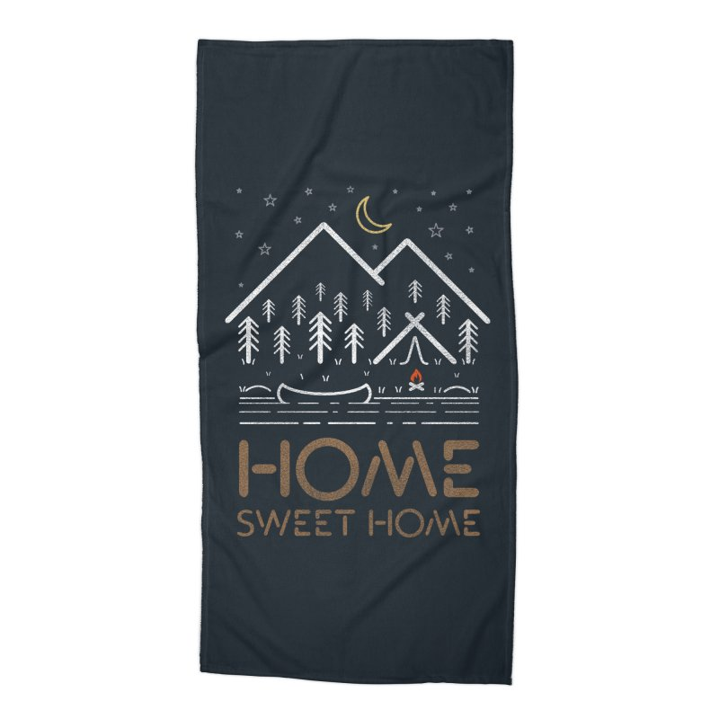 my sweet home Accessories Beach Towel by muag's Artist Shop