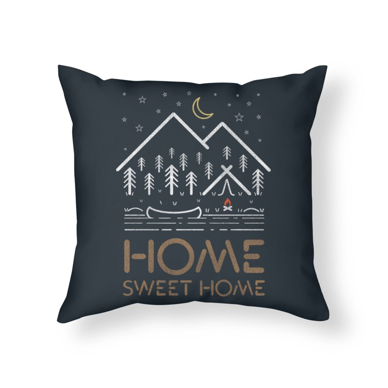 my sweet home Home Throw Pillow by muag's Artist Shop