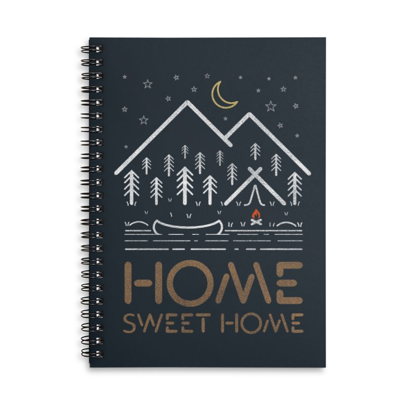 my sweet home Accessories Lined Spiral Notebook by muag's Artist Shop