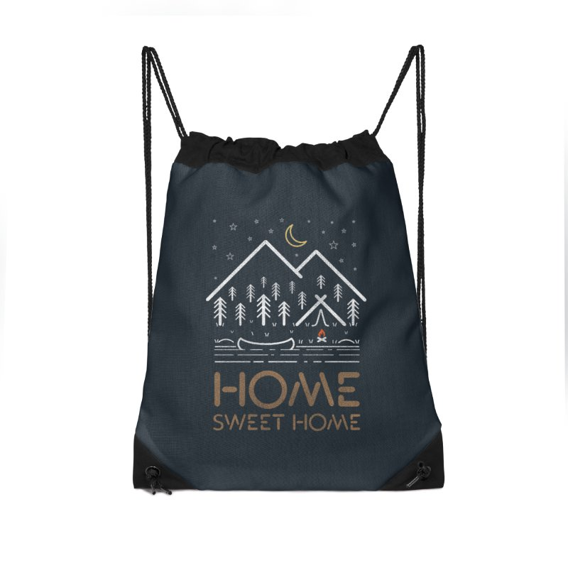my sweet home Accessories Drawstring Bag Bag by muag's Artist Shop