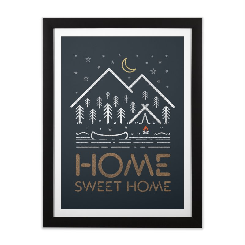my sweet home Home Framed Fine Art Print by muag's Artist Shop