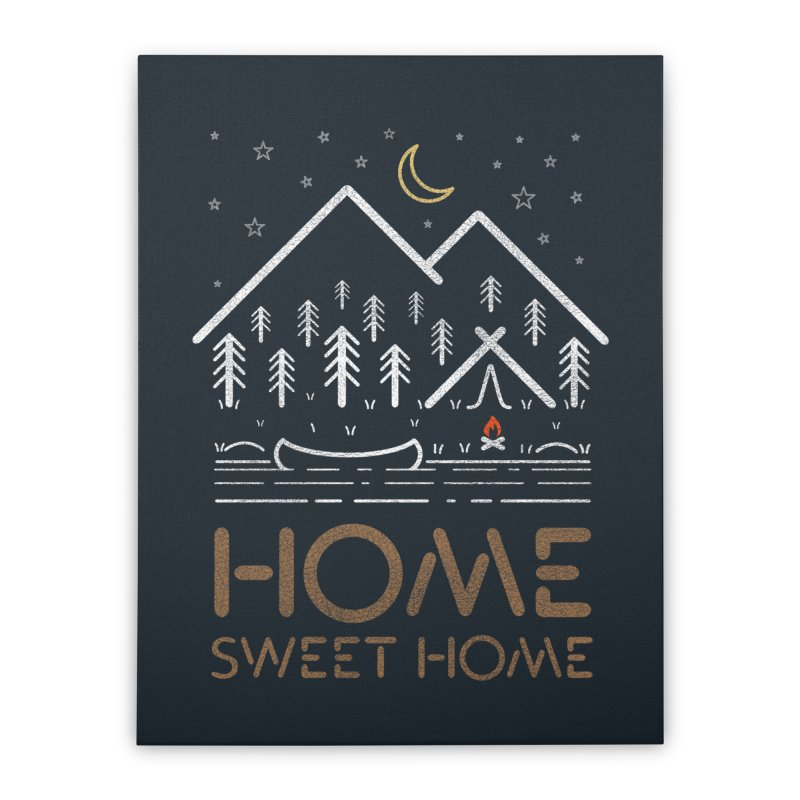 my sweet home Home Stretched Canvas by muag's Artist Shop