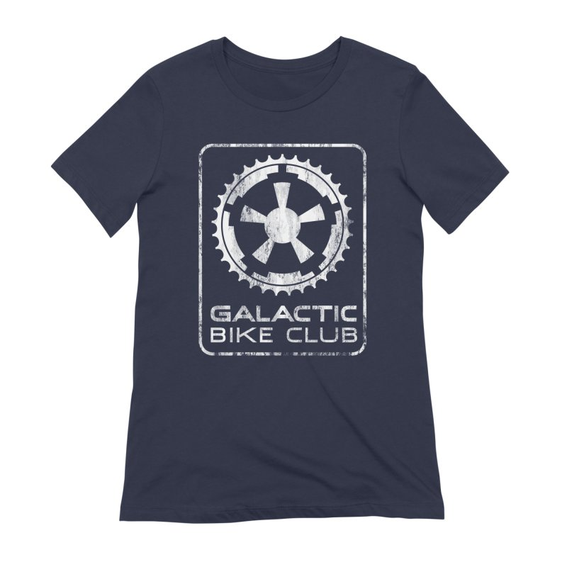 galactic bike club Women's Extra Soft T-Shirt by muag's Artist Shop