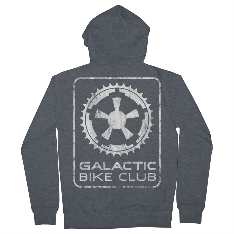 galactic bike club Men's French Terry Zip-Up Hoody by muag's Artist Shop
