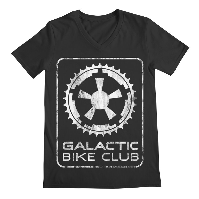 galactic bike club Men's Regular V-Neck by muag's Artist Shop