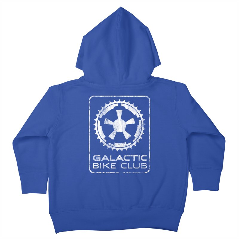galactic bike club Kids Toddler Zip-Up Hoody by muag's Artist Shop