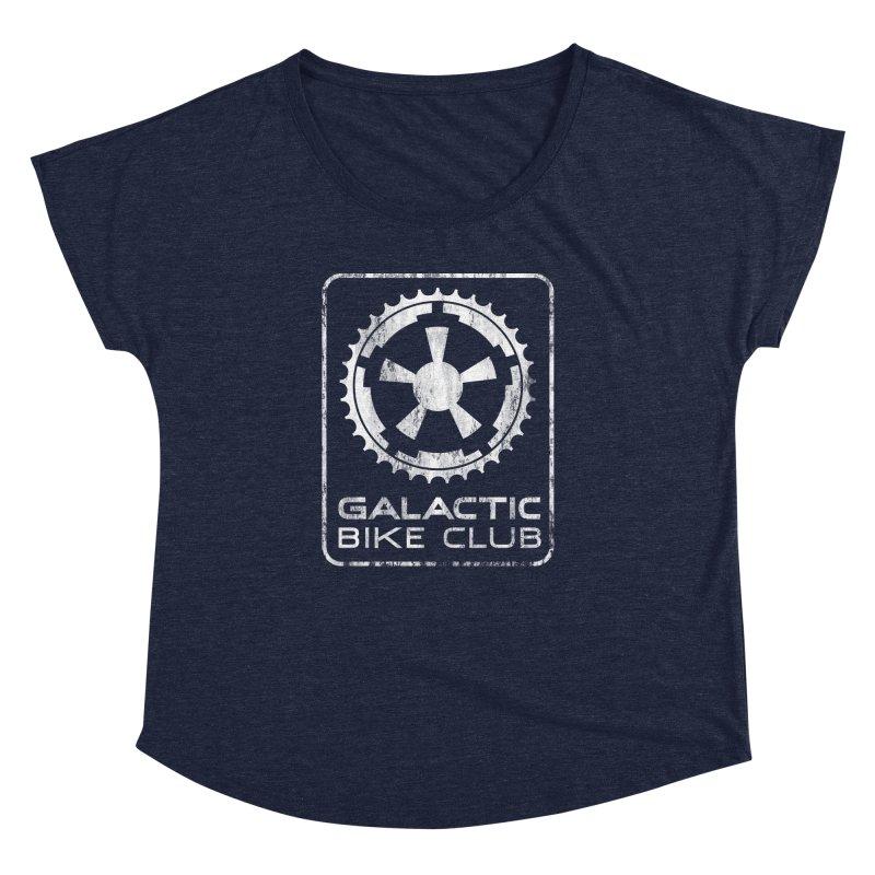 galactic bike club Women's Dolman Scoop Neck by muag's Artist Shop