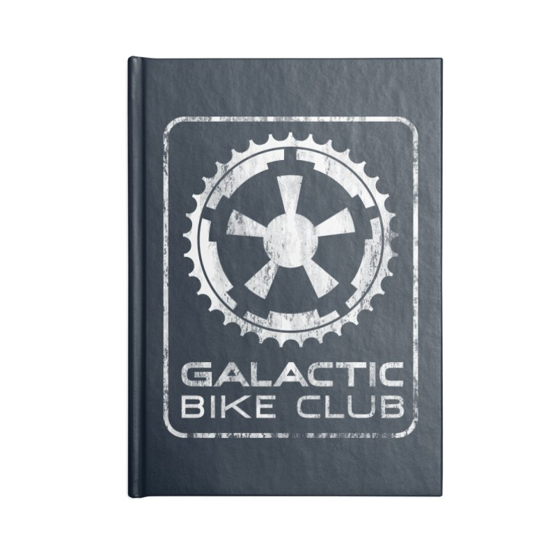 galactic bike club Accessories Lined Journal Notebook by muag's Artist Shop
