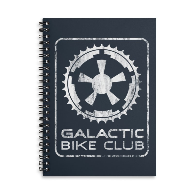 galactic bike club Accessories Lined Spiral Notebook by muag's Artist Shop