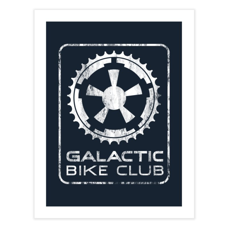 galactic bike club Home Fine Art Print by muag's Artist Shop