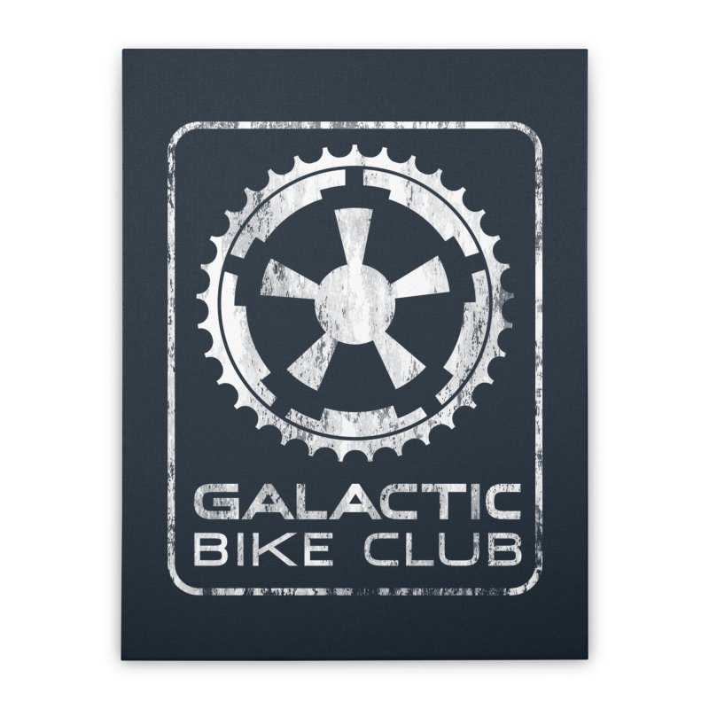 galactic bike club Home Stretched Canvas by muag's Artist Shop