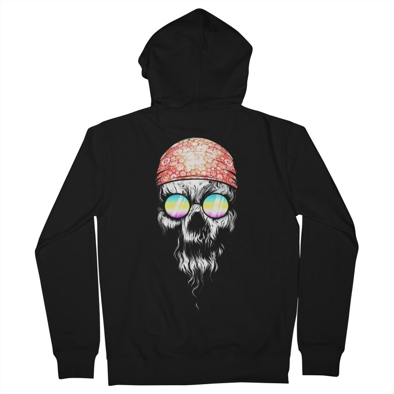 old skooll Women's French Terry Zip-Up Hoody by muag's Artist Shop