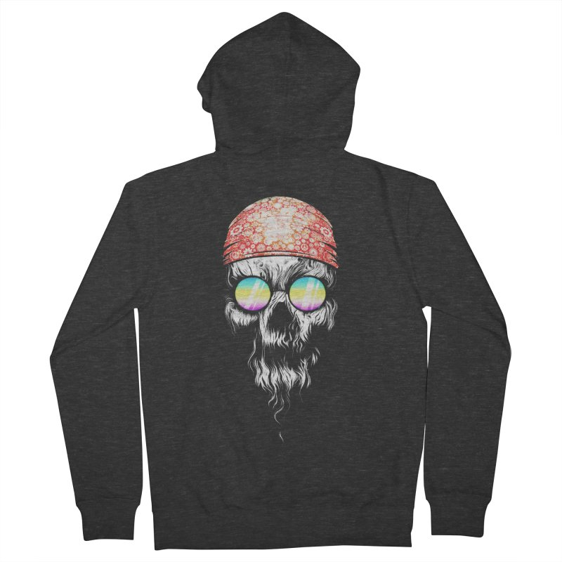 old skooll Men's French Terry Zip-Up Hoody by muag's Artist Shop