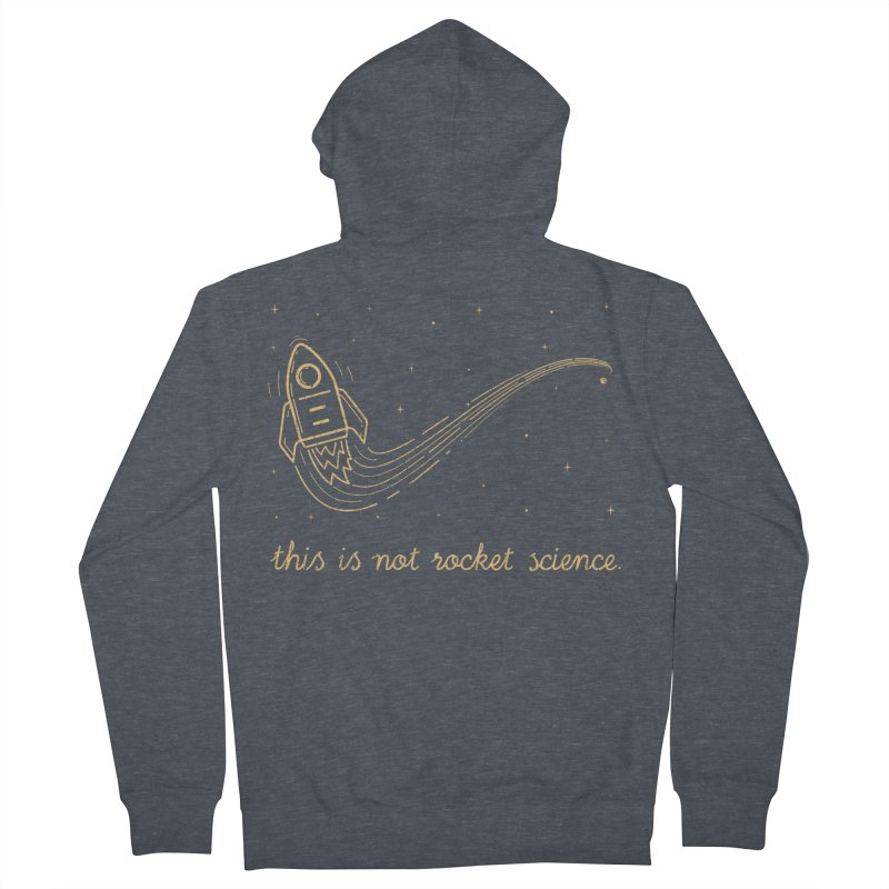 tribute to magritte Women's French Terry Zip-Up Hoody by muag's Artist Shop