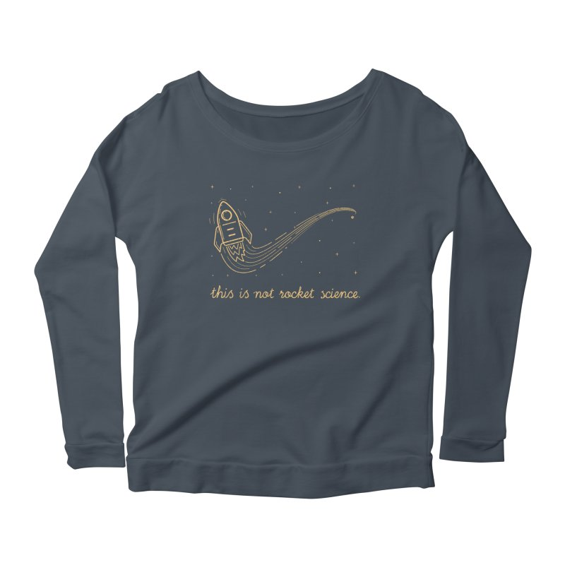 tribute to magritte Women's Scoop Neck Longsleeve T-Shirt by muag's Artist Shop