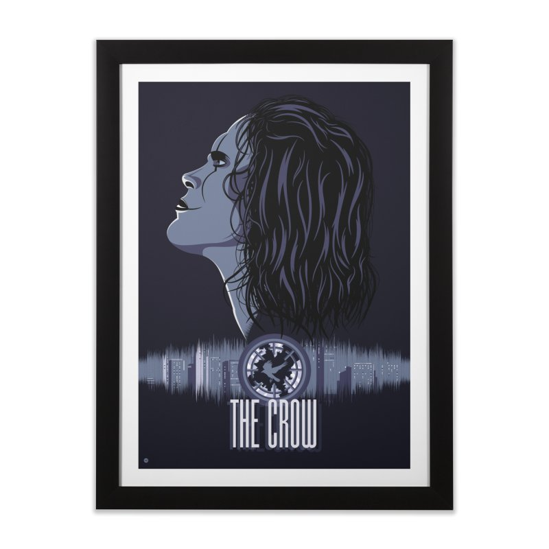 The Crow Home Framed Fine Art Print by Muchmoji Shop