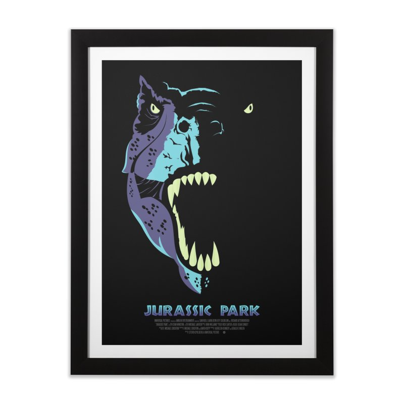 Jurassic Park (Art Print) Home Framed Fine Art Print by Muchmoji Shop