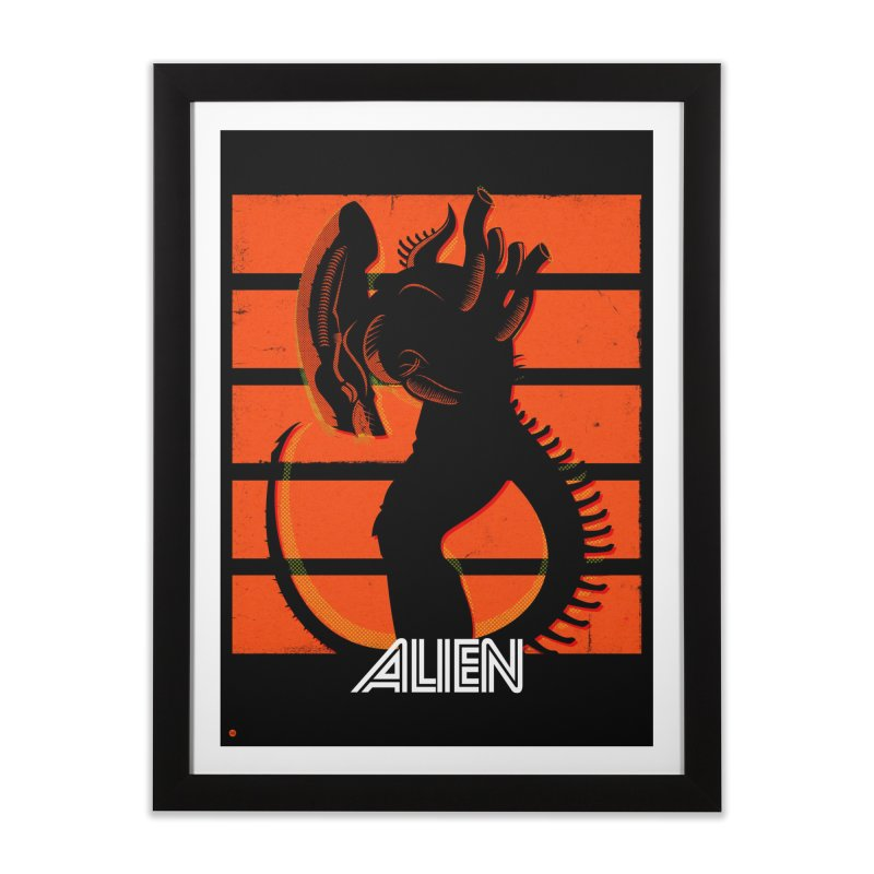 Alien (Art Print) Home Framed Fine Art Print by Muchmoji Shop