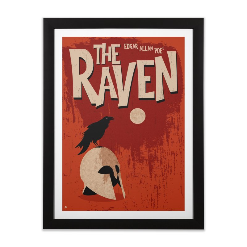 Edgar Allan Poe's The Raven Home Framed Fine Art Print by Muchmoji Shop