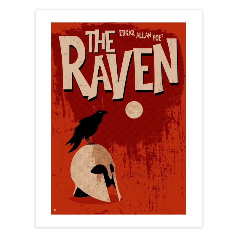 Edgar Allan Poe's The Raven in Fine Art Print by Muchmoji Shop
