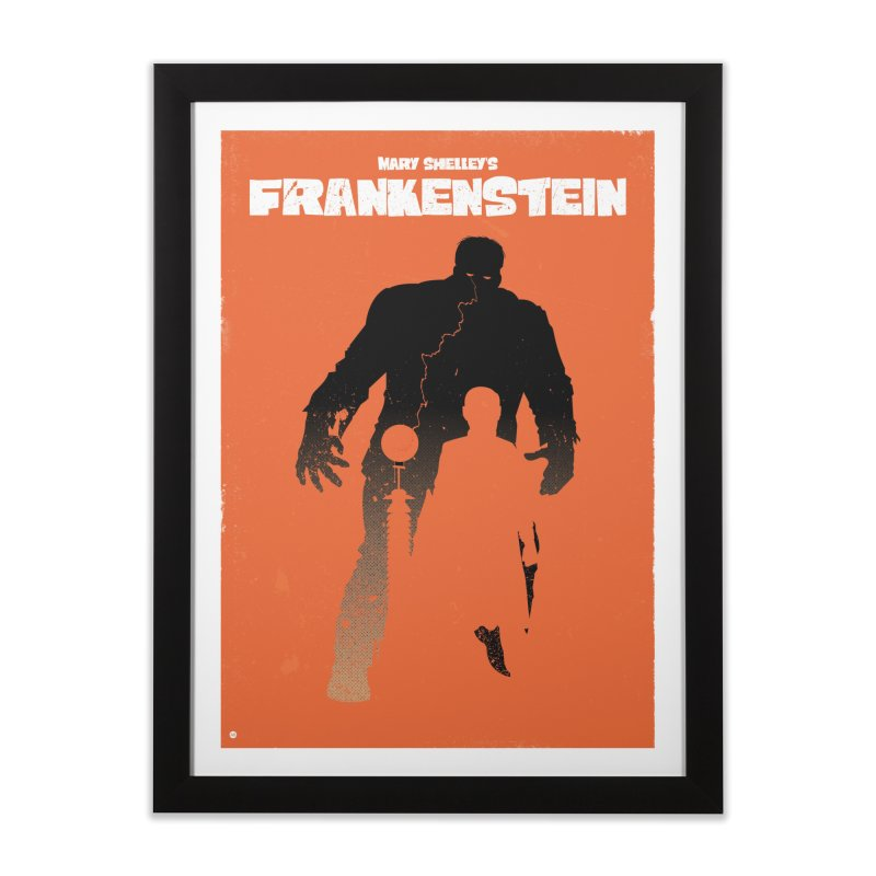 Mary Shelley's Frankenstein Home Framed Fine Art Print by Muchmoji Shop