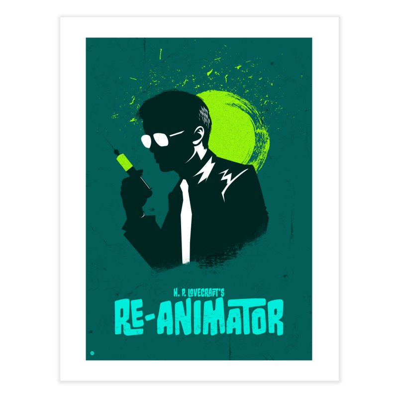 H.P. Lovecraft's ReAnimator in Fine Art Print by Muchmoji Shop