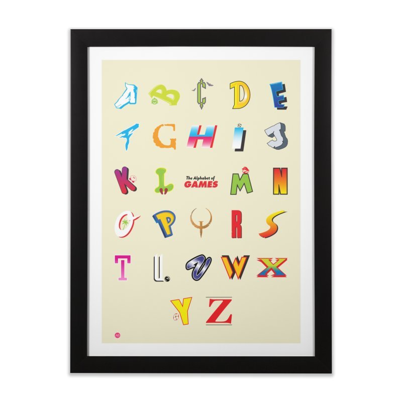 Alphabet of Games Home Framed Fine Art Print by Muchmoji Shop