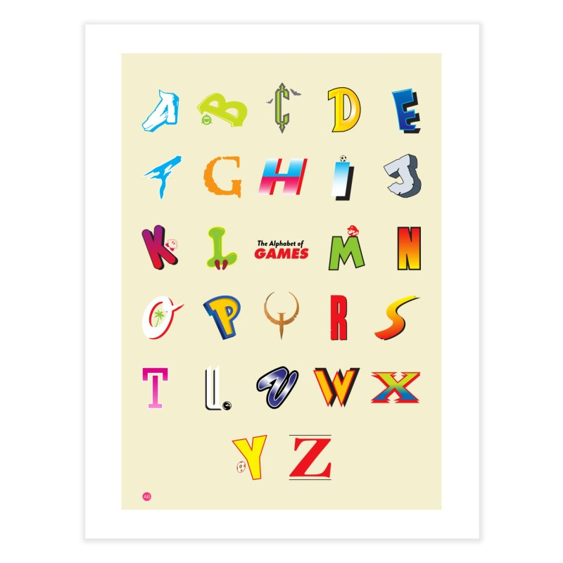Alphabet of Games in Fine Art Print by Muchmoji Shop