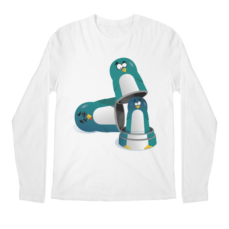Penguin Dolls Men's Longsleeve T-Shirt by mud's Artist Shop