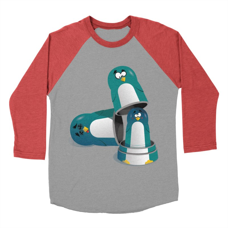 Penguin Dolls Women's Baseball Triblend T-Shirt by mud's Artist Shop