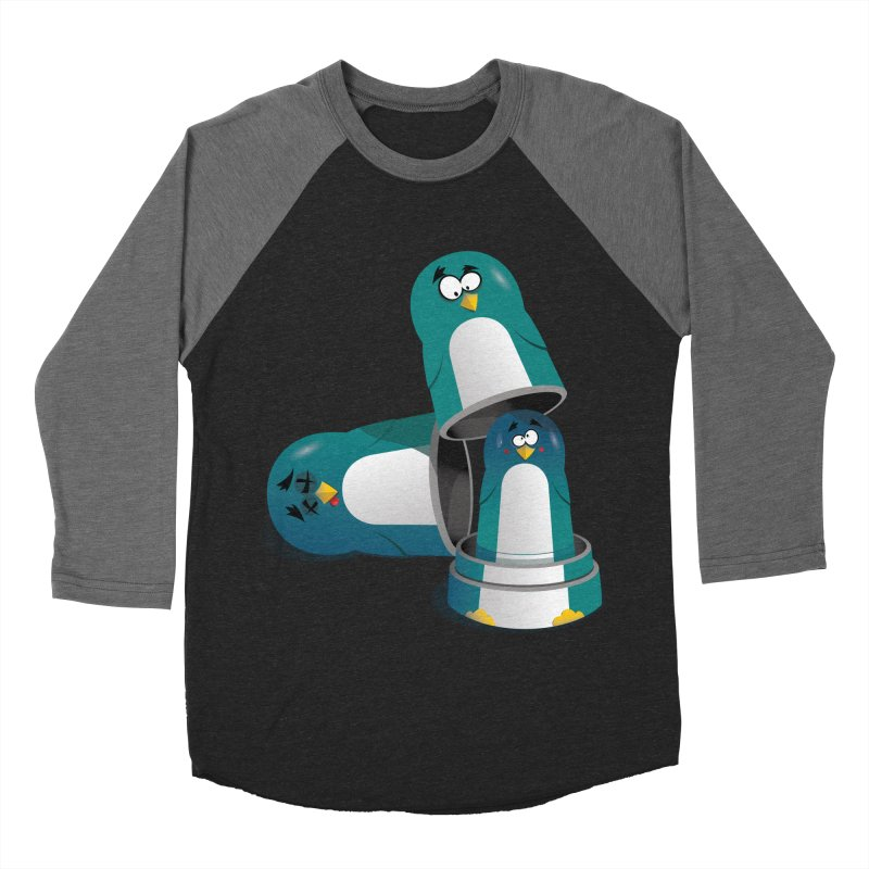 Penguin Dolls Men's Baseball Triblend T-Shirt by mud's Artist Shop