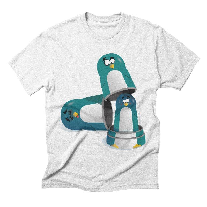 Penguin Dolls Men's Triblend T-shirt by mud's Artist Shop