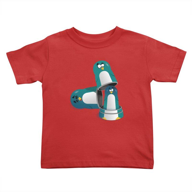 Penguin Dolls Kids Toddler T-Shirt by mud's Artist Shop