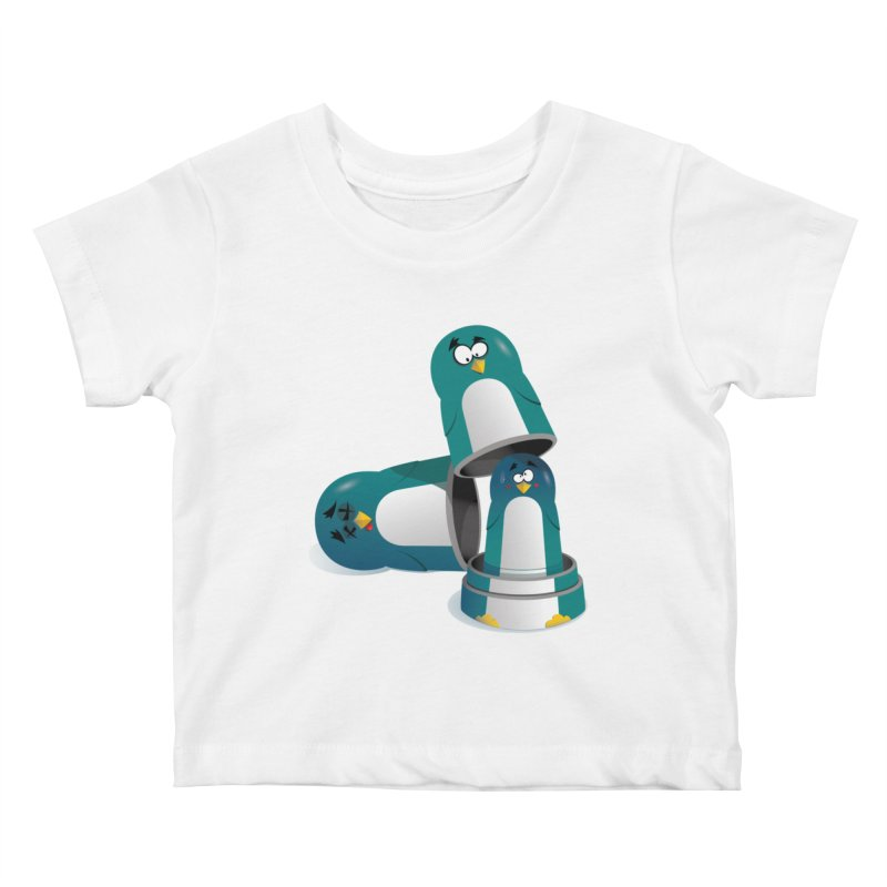 Penguin Dolls Kids Baby T-Shirt by mud's Artist Shop