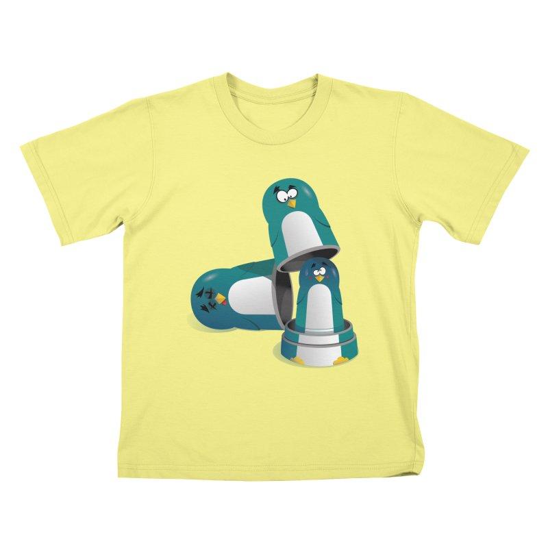 Penguin Dolls Kids T-shirt by mud's Artist Shop