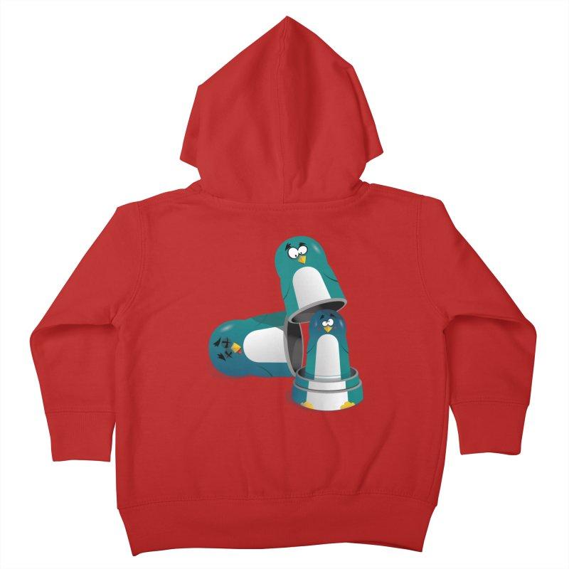 Penguin Dolls Kids Toddler Zip-Up Hoody by mud's Artist Shop