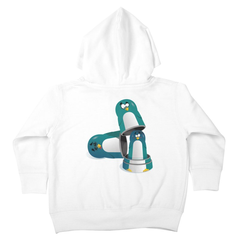 Penguin Dolls Kids Toddler Zip-Up Hoody by mud's Artist Shop