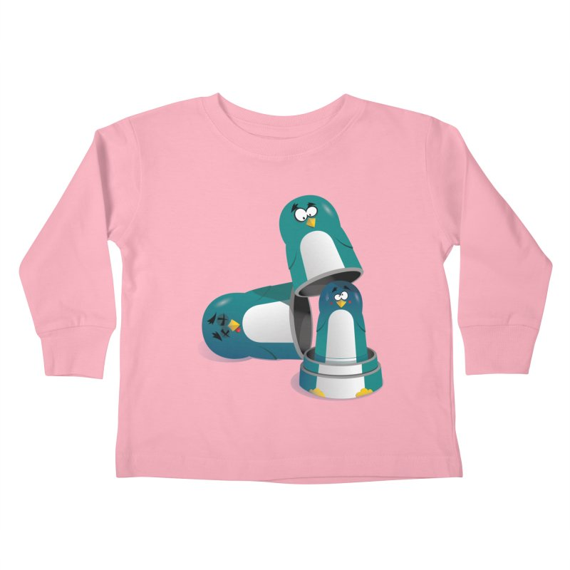 Penguin Dolls Kids Toddler Longsleeve T-Shirt by mud's Artist Shop