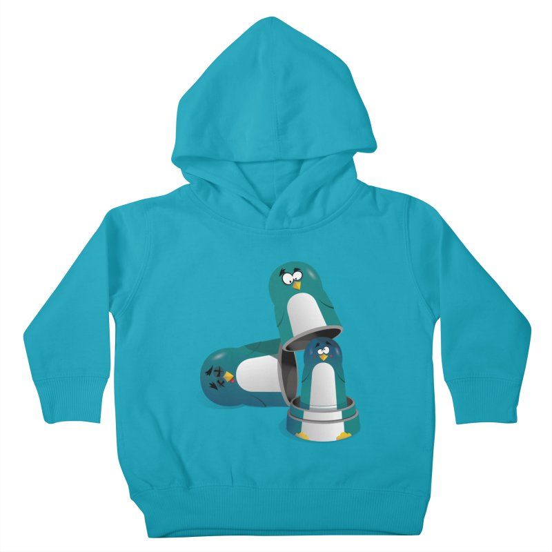 Penguin Dolls Kids Toddler Pullover Hoody by mud's Artist Shop